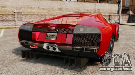Lamborghini Murcielago RGT for GTA 4 back left view