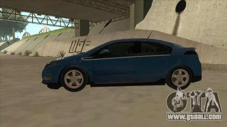 Chevrolet Volt 2011 [ImVehFt] v1.0 for GTA San Andreas back left view