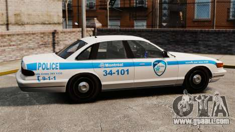Montreal police v1 for GTA 4 left view
