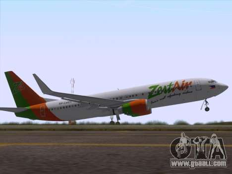 Boeing 737-800 Zest Air for GTA San Andreas interior