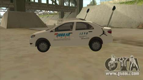 Toyota Vios AIR JORDAN TAXI of Cagayan De Oro for GTA San Andreas left view