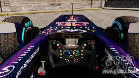 Car, Red Bull RB9 v1 for GTA 4 back view