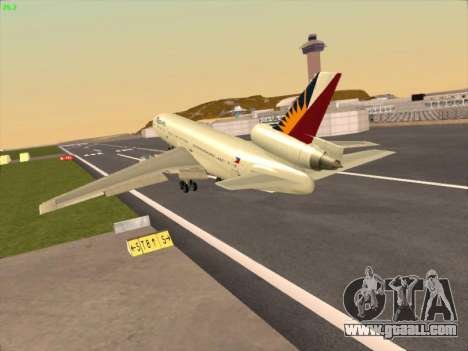 McDonell Douglas DC-10 Philippines Airlines for GTA San Andreas back left view