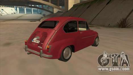Zastava 750 Fico for GTA San Andreas back view