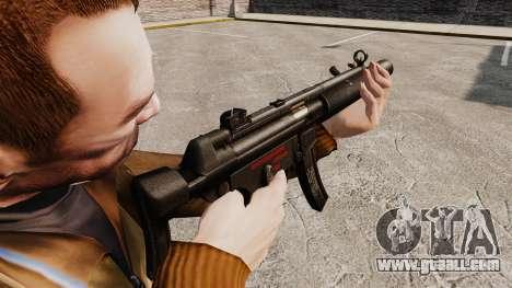 MP5SD submachine gun v5 for GTA 4 second screenshot