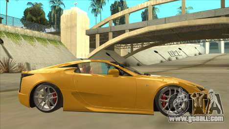 Lexus LFA Autovista 2010 for GTA San Andreas