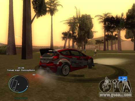 Ford Fiesta RS WRC for GTA San Andreas engine