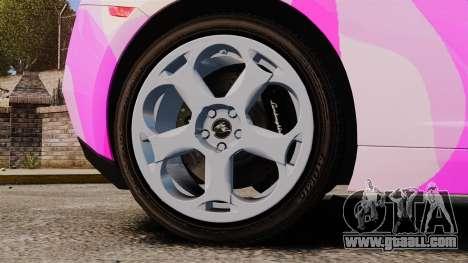Lamborghini Gallardo 2005 [EPM] Pink Camo for GTA 4 back view