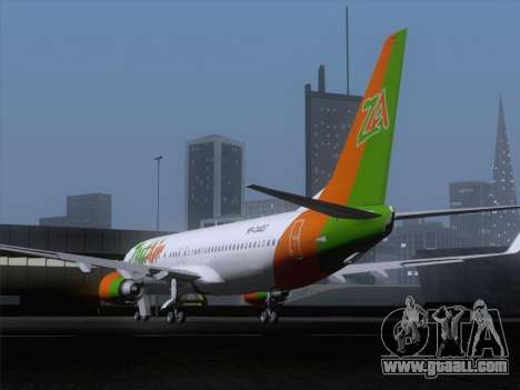Boeing 737-800 Zest Air for GTA San Andreas back left view