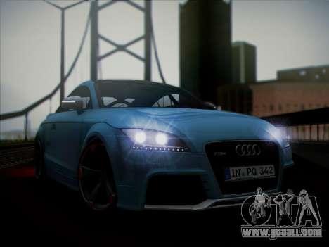 Audi TT RS 2013 for GTA San Andreas back left view
