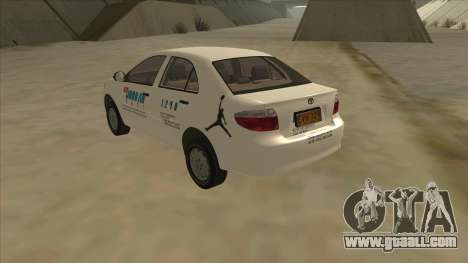 Toyota Vios AIR JORDAN TAXI of Cagayan De Oro for GTA San Andreas back left view
