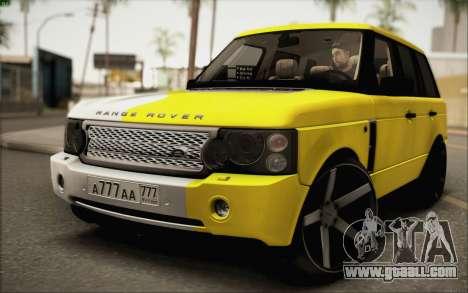 Land Rover Range Rover Gold Vossen for GTA San Andreas