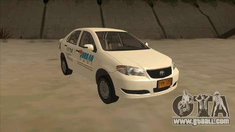 Toyota Vios AIR JORDAN TAXI of Cagayan De Oro for GTA San Andreas back view
