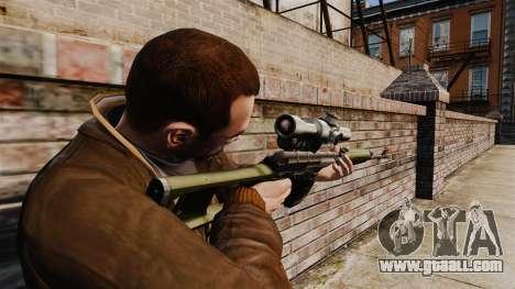Dragunov sniper rifle v3 for GTA 4 second screenshot
