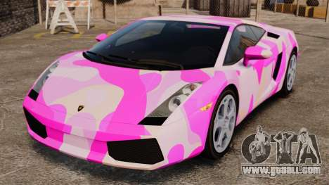 Lamborghini Gallardo 2005 [EPM] Pink Camo for GTA 4