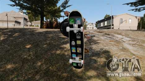 Skateboard iPhone for GTA 4 right view