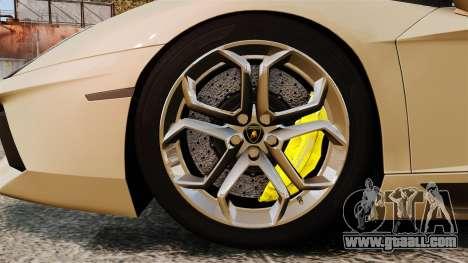 Lamborghini Aventador LP700-4 2012 v2.0 for GTA 4 back view