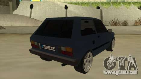 Zastava Yugo 1.1 for GTA San Andreas right view