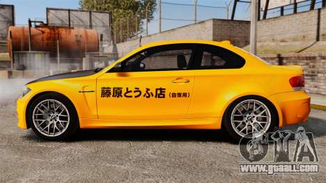 BMW 1M Coupe 2011 Fujiwara Tofu Shop Sticker for GTA 4 left view