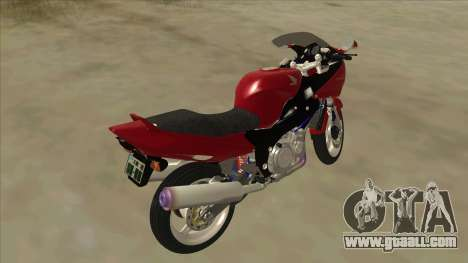 Honda CBR1100XX for GTA San Andreas back left view