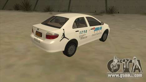 Toyota Vios AIR JORDAN TAXI of Cagayan De Oro for GTA San Andreas right view