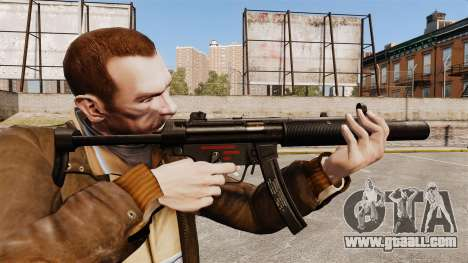 V6 MP5SD submachine gun for GTA 4