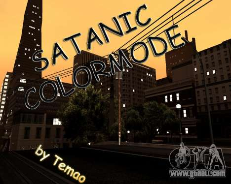 Satanic Colormode for GTA San Andreas