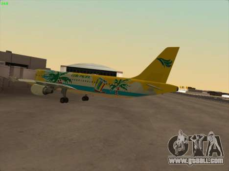 Airbus A320-211 Cebu Pacific Airlines for GTA San Andreas back left view