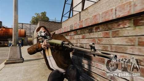 Dragunov sniper rifle v3 for GTA 4