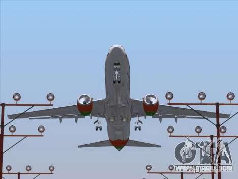 Boeing 737-800 Zest Air for GTA San Andreas wheels