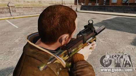 Belgian FN P90 submachine gun v5 for GTA 4 second screenshot