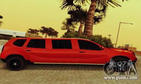 Dacia Duster Limo for GTA San Andreas back left view
