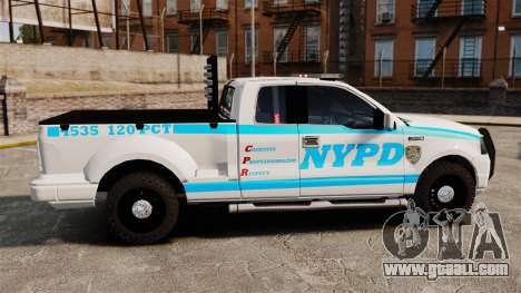 Ford F-150 v3.3 NYPD [ELS & EPM] v2 for GTA 4 left view