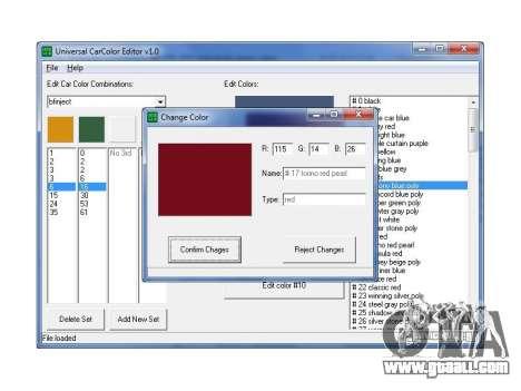 Universal editor colors machines for GTA San Andreas second screenshot