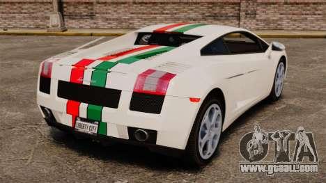 Lamborghini Gallardo 2005 [EPM] Italian for GTA 4 back left view