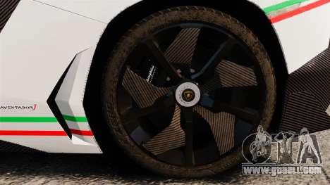 Lamborghini Aventador J 2012 Tricolore for GTA 4 inner view