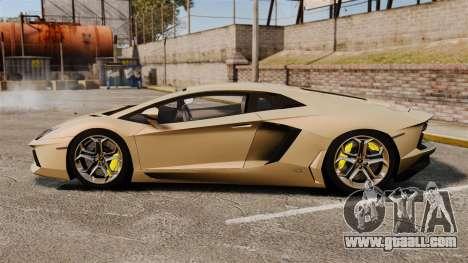 Lamborghini Aventador LP700-4 2012 v2.0 for GTA 4 left view