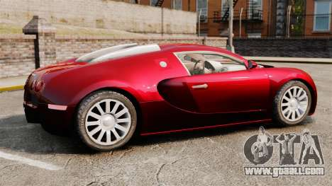 Bugatti Veyron 16.4 for GTA 4 left view