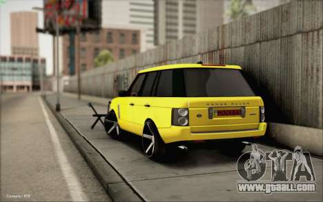 Land Rover Range Rover Gold Vossen for GTA San Andreas left view
