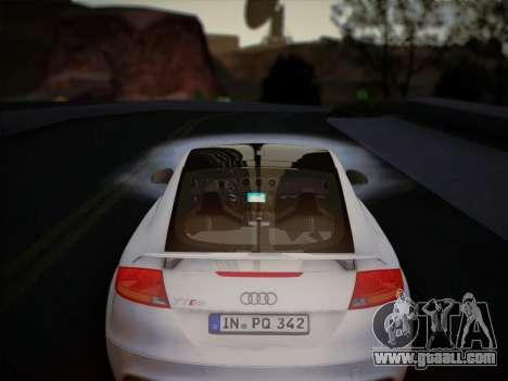 Audi TT RS 2013 for GTA San Andreas inner view