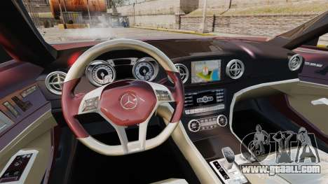 Mercedes-Benz SL500 2013 for GTA 4 inner view