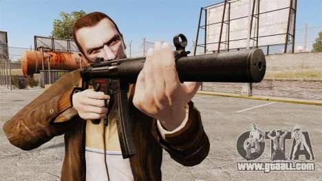 MP5SD submachine gun v5 for GTA 4 third screenshot