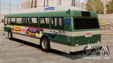 The new advertisement on the bus for GTA 4 left view