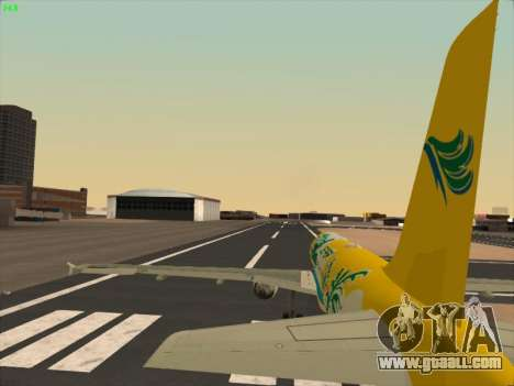 Airbus A320-211 Cebu Pacific Airlines for GTA San Andreas bottom view