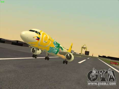 Airbus A320-211 Cebu Pacific Airlines for GTA San Andreas back view