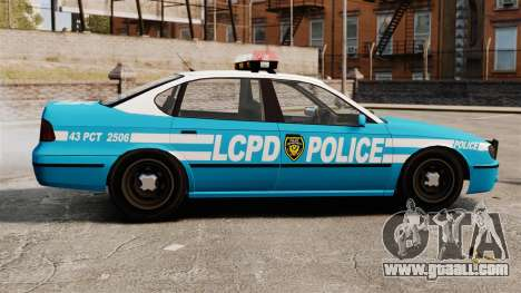 LCPD Police Patrol for GTA 4 left view