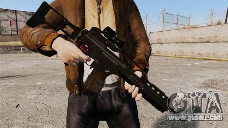 Assault rifle HK G36k for GTA 4 second screenshot