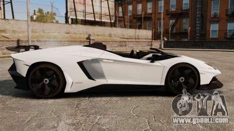 Lamborghini Aventador J 2012 Tricolore for GTA 4 left view