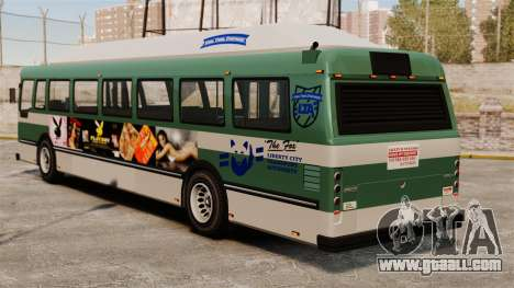 The new advertisement on the bus for GTA 4 right view