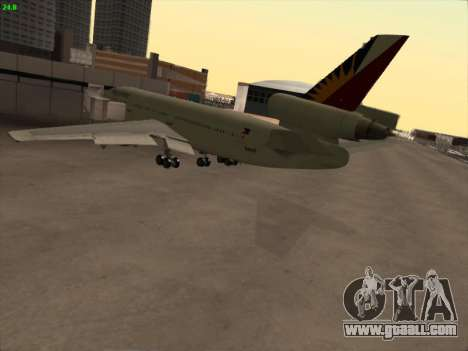 McDonell Douglas DC-10 Philippines Airlines for GTA San Andreas back view